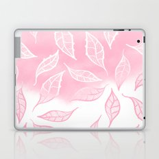 Modern pink white watercolor ombre lace leaf pattern illustration Laptop & iPad Skin
