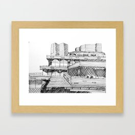 National Theatre London Framed Art Print