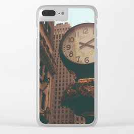 The Sherry Netherland Clock Clear iPhone Case