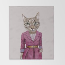 cat Mrs Throw Blanket