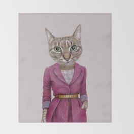cat Mrs Throw Blanket