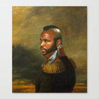 replaceface Canvas Prints featuring Mr. T - replaceface by replaceface