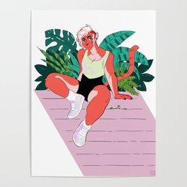 Big Buff Cat Girlfriend Poster