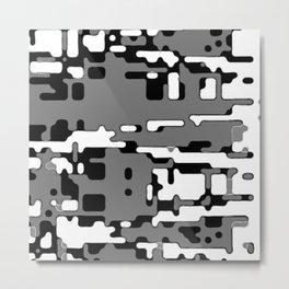 jitter, b&w 8 Metal Print
