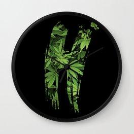 Marijuana H Wall Clock