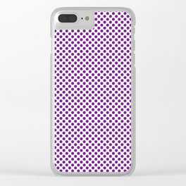 Winterberry Polka Dots Clear iPhone Case