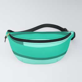 Green Abstract Pattern Fanny Pack
