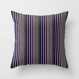 Midnight Stripes Throw Pillow