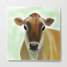 The Jersey - the prettiest cow in the world Metal Print