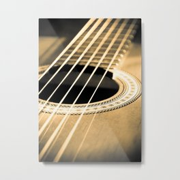 On A String Metal Print