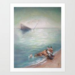 Sea Fox  Art Print