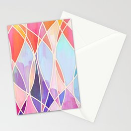 Purple & Peach Love - abstract painting in rainbow pastels Stationery Cards