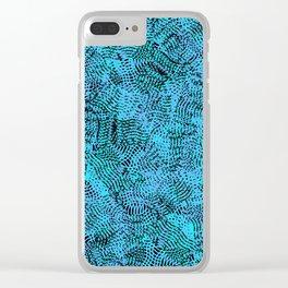 Light Blue Knitwear Background Pattern Clear iPhone Case