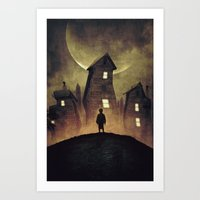 murakami Art Prints featuring A Bad Dream by Mikio Murakami