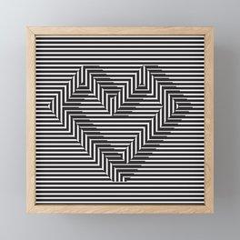 le coeur impossible (nº 1) Framed Mini Art Print