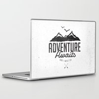 Laptop Skins featuring ADVENTURE AWAITS by magdam