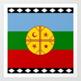 Flag of Mapuche Art Print