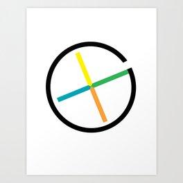 geocaching symbol Art Print