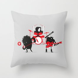 Monsters of Metal Throw Pillow
