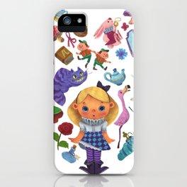 Alice in Wonderland Heart iPhone Case