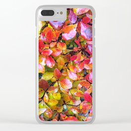 Barberry Fall Colors Clear iPhone Case