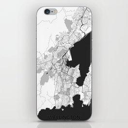 Wellington Map Gray iPhone Skin