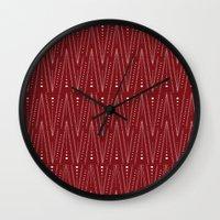 henna Wall Clocks featuring Henna by Nikki Neri