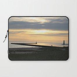 Lake Michigan Pier Laptop Sleeve