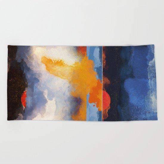 Dusk Reflection Beach Towel