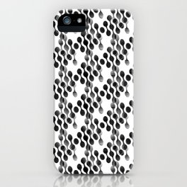 2706 Today's grey pattern ... iPhone Case