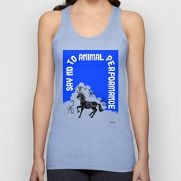 Say NO to Animal Performance - Horse Unisex Tank Top
