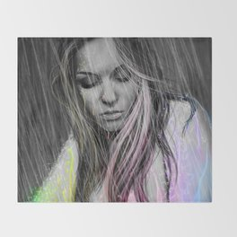 Rain of Purity Throw Blanket