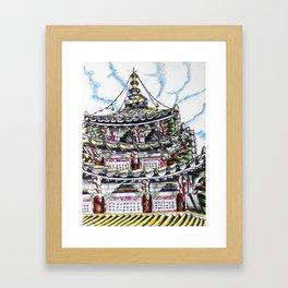Beopjusa Temple Framed Art Print