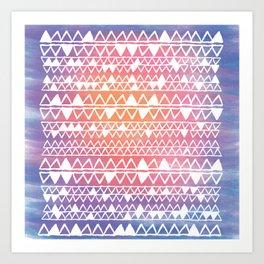 Sunset tribal Art Print