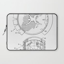 Skydiving Wind Tunnel Patent - Sky Diving Art - Black And White Laptop Sleeve