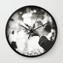 The man of birds Wall Clock