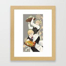 USUK Waiters Framed Art Print