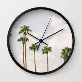 Palm Springs Palm Trees Wall Clock