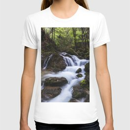 Magical waterfall in gorge Hell T-shirt