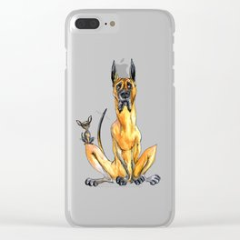 Great Dane and Chihuahua Clear iPhone Case