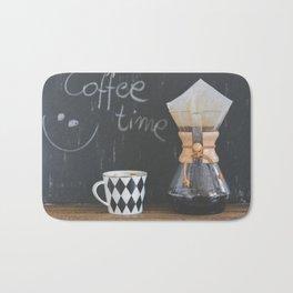 Coffee Time! Photo of coffee and mug Bath Mat