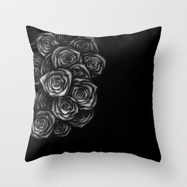 Roses Illustration Throw Pillow