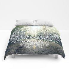 Mandala Forest Fog Road Comforters