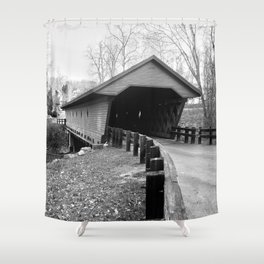Newfield Covered Bridge 1853 Shower Curtain