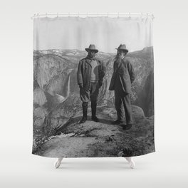 John Muir Teddy Roosevelt Yosemite National Park Shower Curtain