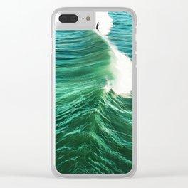 Foil Surf Clear iPhone Case