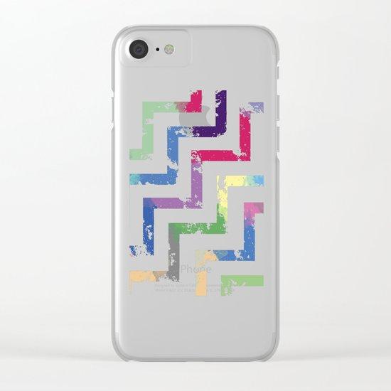 Colorful Geometric VI Clear iPhone Case