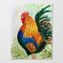 Cock-a-doodle-do! Canvas Print