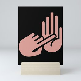 Saginaw Michigan Hand Map Mini Art Print