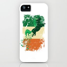 Distressed Irish Flag St Patricks Unicorn iPhone Case